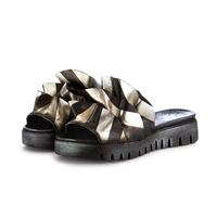 PAPUCEI sandali sabot da donna PAPUCEI caron | nero argento pelle