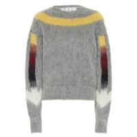 Off-White pullover arrows fuzzy in misto alpaca