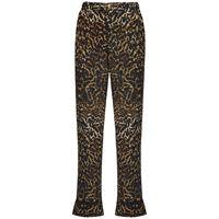 F.R.S. FOR RESTLESS SLEEPERS pantaloni in crepe di seta leopard