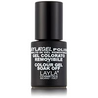 Layla cosmetics Laylagel polish smalto semipermanente per unghie con lampada uv, 1 confezione da 10 ml, tonalità glamour