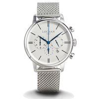 Locman 1960 dolce vita / orologio uomo / quadrante argentato / cassa acciaio / cinturino acciaio