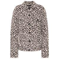 Alanui giacca in jacquard leopardato di lana