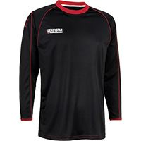 Derbystar uni maglia da giocatore energy lunga, 61920, unisex, spielertrikot energy lang, nero/rosso, s