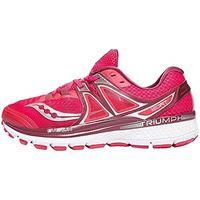 Saucony triumph iso 3, scarpe running donna, rosa (pink/berry/silver 2), 36.5 eu