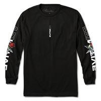 Primitive Skateboards t-shirt primitive long sleeve threat tee black