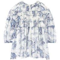 Chloé bambini - bambina - mini me silk robe vestito blu - 4 anni - blu
