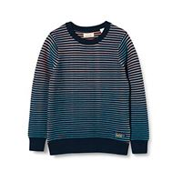 Scotch & Soda sporty yarn dyed stripe crewneck pull maglione, combo g 0461, 8 bambino
