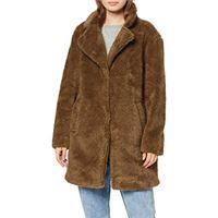 Urban Classics ladies oversized sherpa coat giubbotto, nero (black 00007), l donna