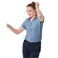 Jack Wolfskin da donna kepler shirt, donna, ocean wave checks, xs