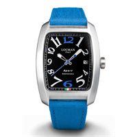 Locman sport anniversary / orologio uomo / quadrante nero / cassa alluminio e acciaio / cinturino cordura blu
