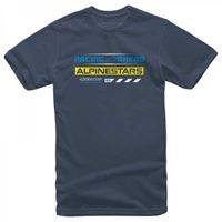Alpinestars - t-shirt Alpinestars world tour blu
