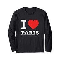 I Love Paris Apparel amo parigi   i love paris maglia a manica