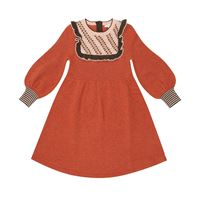 Caramel abito nightingale in lana merino