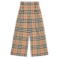Burberry Kids pantaloni tilda a quadri in cotone