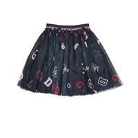 Dolce & Gabbana Kids gonna a stampa in tulle