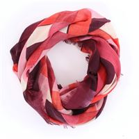 BARBA scarf5 rosso fantasia