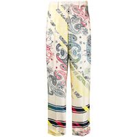 Golden Goose pantaloni con stampa paisley - color carne