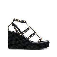 Valentino Garavani sandali con plateau rockstud - di colore nero