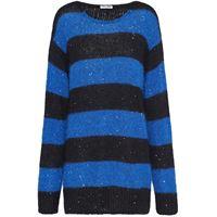 Miu Miu maglione oversize a righe - blu