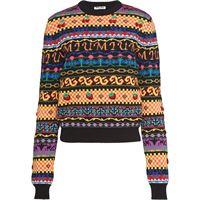 Miu Miu maglione con motivo jacquard - nero