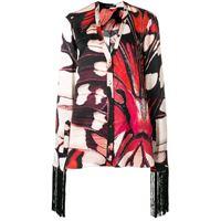 Alexander McQueen blusa con motivo farfalle - nero