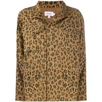 FRAME - giacca con stampa animalier - women - cotone - l, m - color marrone