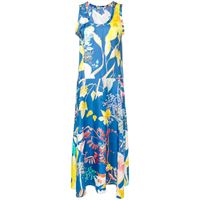 Agnona vestito a fiori - blu