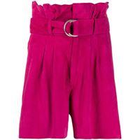 P.A.R.O.S.H. shorts a vita alta - rosa