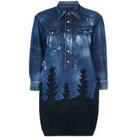 Dsquared2 top in denim 'forest' - blu