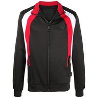 Philipp Plein giacca sportiva con collo a coste - nero