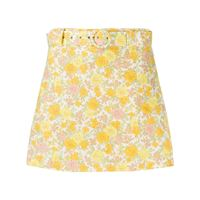 Faithfull the Brand shorts a fiori con cintura - giallo