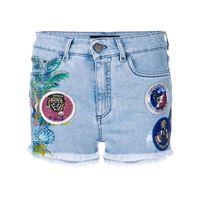 Mr & Mrs Italy shorts denim con applicazioni - blu