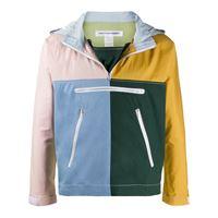 Comme Des Garçons Shirt - giacca con design color-block - men - cotone - l, xl, s, m - di colore giallo