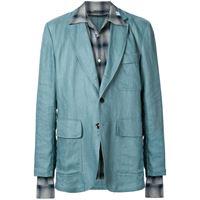 Maison Mihara Yasuhiro blazer taglio comodo - blu