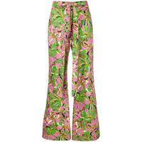 La Doublej pantaloni a fiori - verde