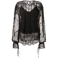 Preen By Thornton Bregazzi blusa semi trasparente - nero