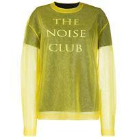 McQ Swallow maglione the noise club - giallo