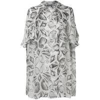 Alexander McQueen blusa oversize con ricamo - bianco