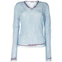 Maison Margiela t-shirt con righe - blu