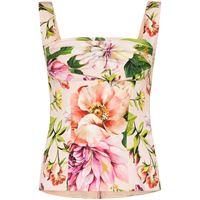 Dolce & Gabbana top a fiori - toni neutri