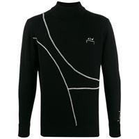 A-COLD-WALL* maglione con ricamo - nero