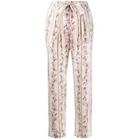 Forte Forte pantaloni a fiori - rosa