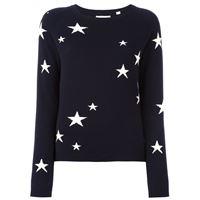 Chinti and Parker maglione con stelle intarsiate - di colore blu