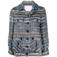 Giada Benincasa - giacca sartoriale - women - cotone/acrilico/nylon/poliammidepoliestereviscosalanapoliestere metallizzato - m - di colore blu
