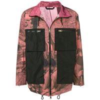 Paul Smith - giacca leggera con stampa - men - nylon - xl, m, l - di colore rosa