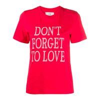 Alberta Ferretti t-shirt con stampa - rosso