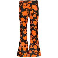 Marques'Almeida pantaloni svasati a fiori - nero