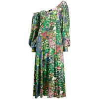 Natasha Zinko vestito asimmetrico a fiori - di colore verde