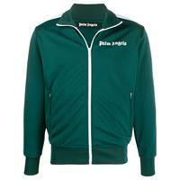 Palm Angels - giacca sportiva con stampa - men - poliestere - s, m, xxs, xs, l, xl, xxl - di colore verde