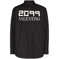 Valentino - giacca-camicia con stampa 2099 - men - poliammide/poliestere - 46, 48, 54 - di colore nero